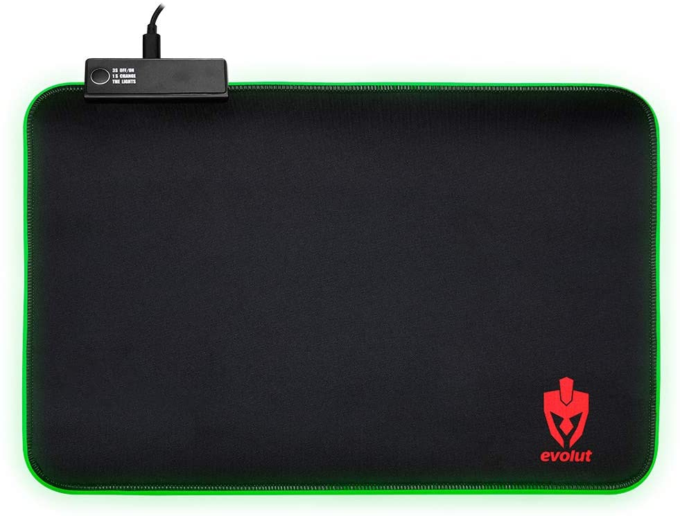 Mousepad Gamer Evolut Speed RGB - Médio (350mmx250mm) - Base Antiderrapante - EG-410