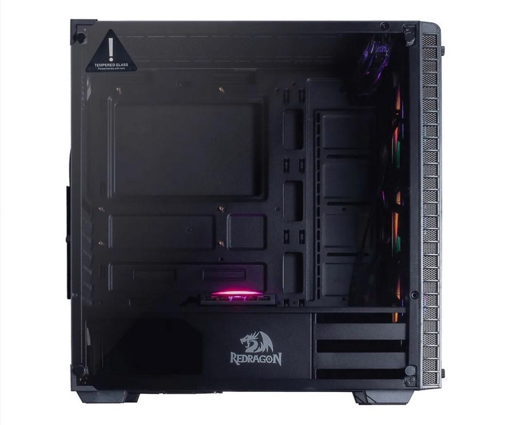 PC Gamer - Intel i3 9100F, Placa mãe MSI 2 Slots, 8GB de RAM HyperX, SSD 240GB, Placa de Vídeo RX 550, Fonte 500W Mymax , Gabinete Redragon 3 Fans RGB