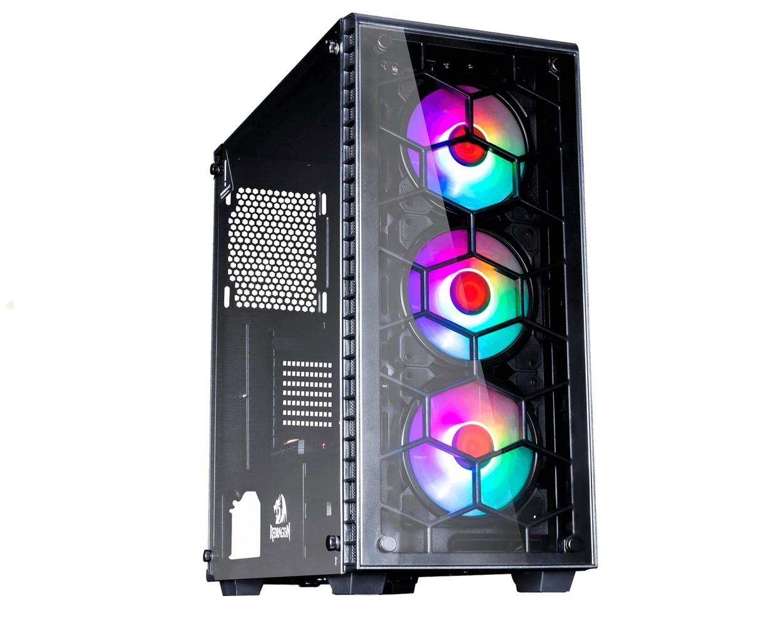 PC Gamer - Intel i5 9400F, Placa mãe MSI 2 Slots, 16GB de RAM 3000MHZ RGB, HD 1TB, SSD 120GB, Placa de Vídeo GTX 1650 4GB, Fonte 450W EVGA 80 Plus , Gabinete Redragon 3 Fans RGB