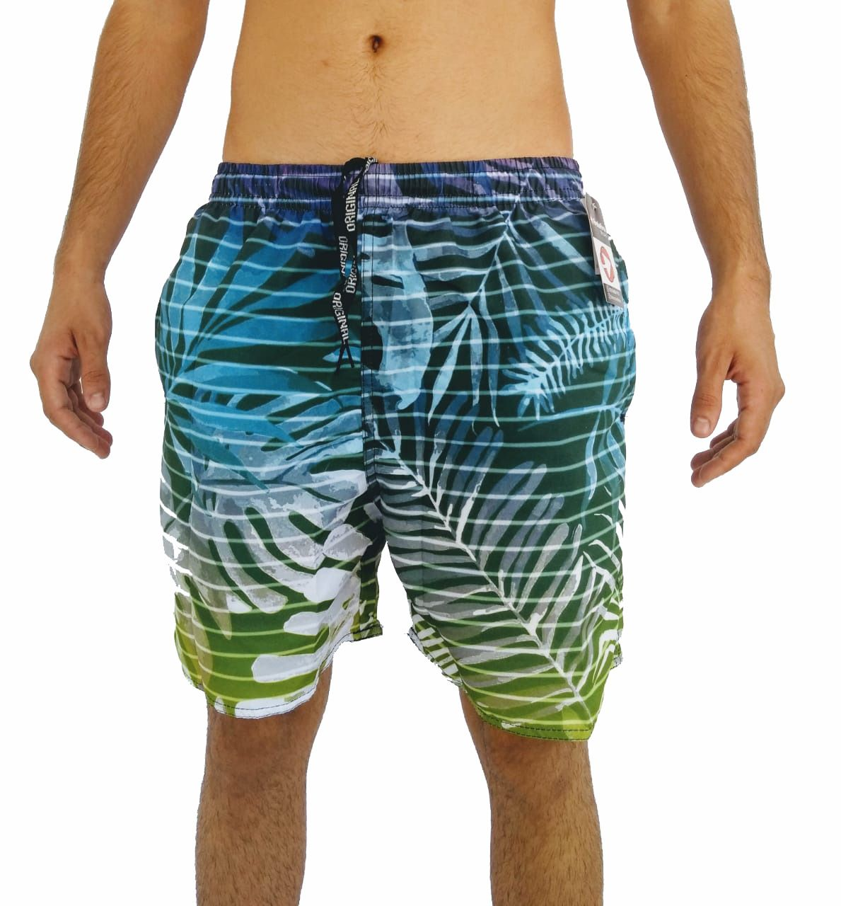 Short Tactel Praia Masculino Adulto Estampado