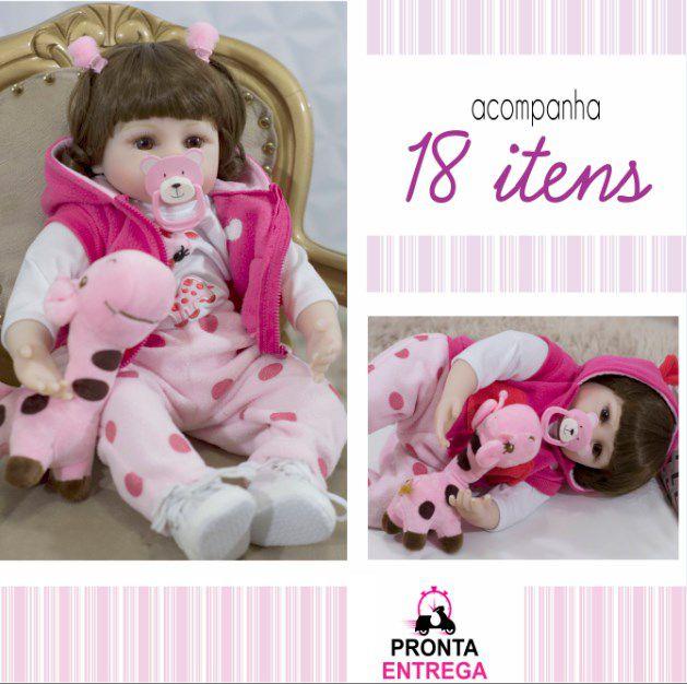 Bebê Reborn Boneca Realista Linda!! Acompanha + 18 Itens
