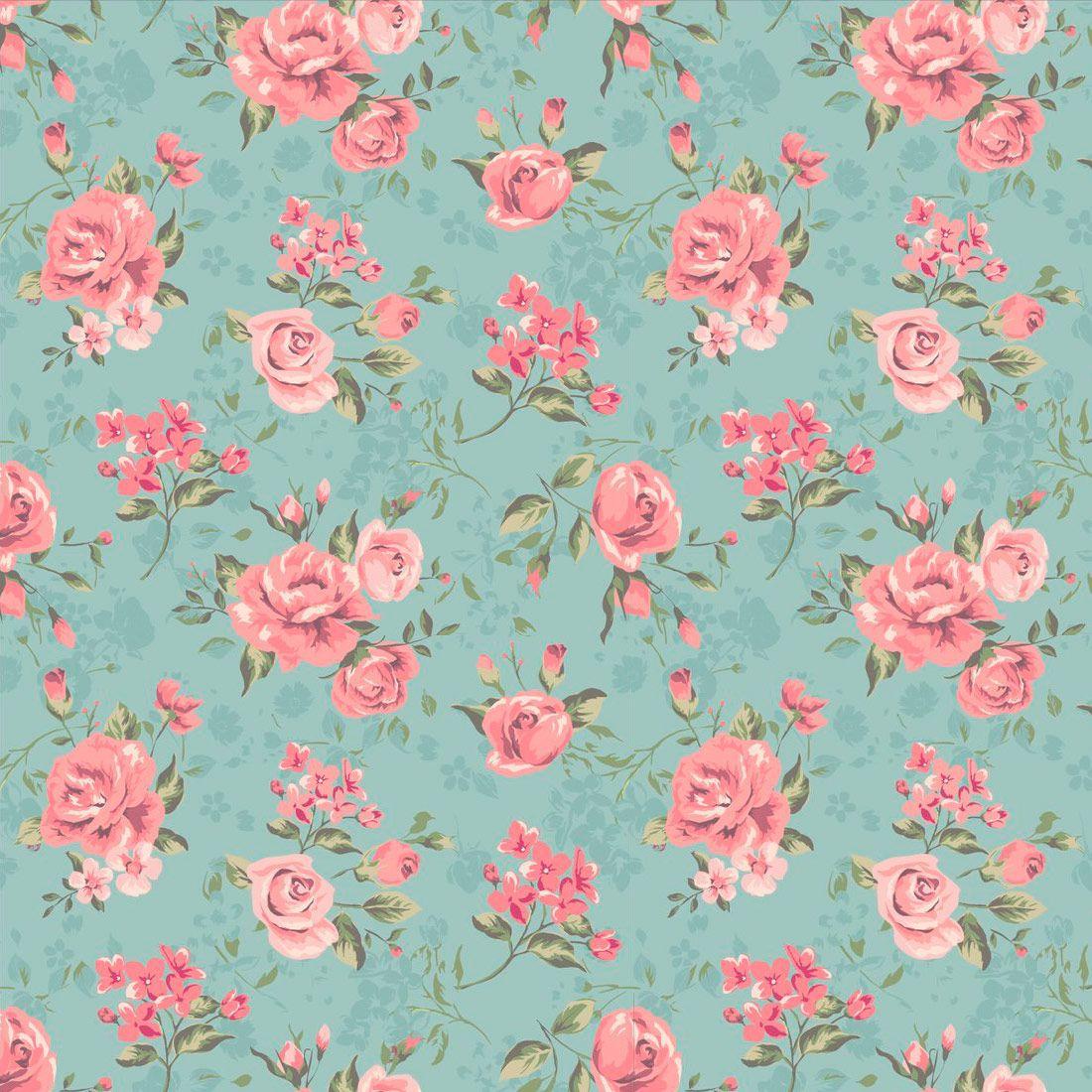 Papel de Parede Floral - 705