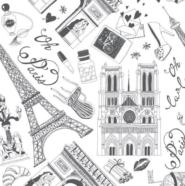 PAPEL DE PAREDE PARIS - 845