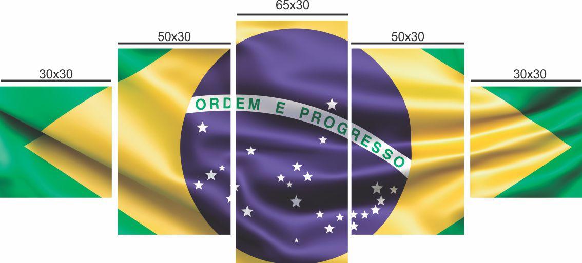 QUADRO DECORATIVO BANDEIRA DO BRASIL - 31
