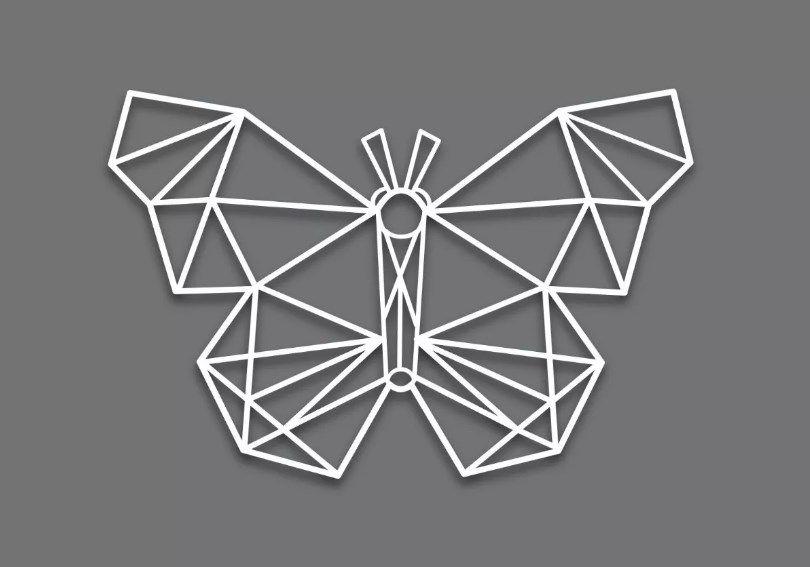 Quadro Decorativo Borboleta Mdf