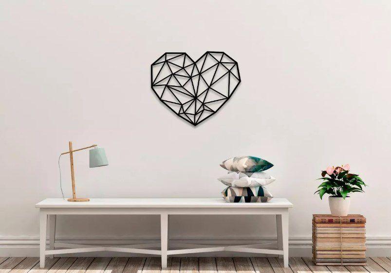 Quadro Decorativo Coração Estilizado