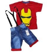 Conjunto Infantil Homem de Ferro