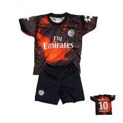 Conjunto PSG Infantil Preto e laranja
