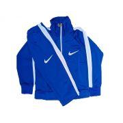 Conjunto Abrigo Calça e Blusa - Azul com branco
