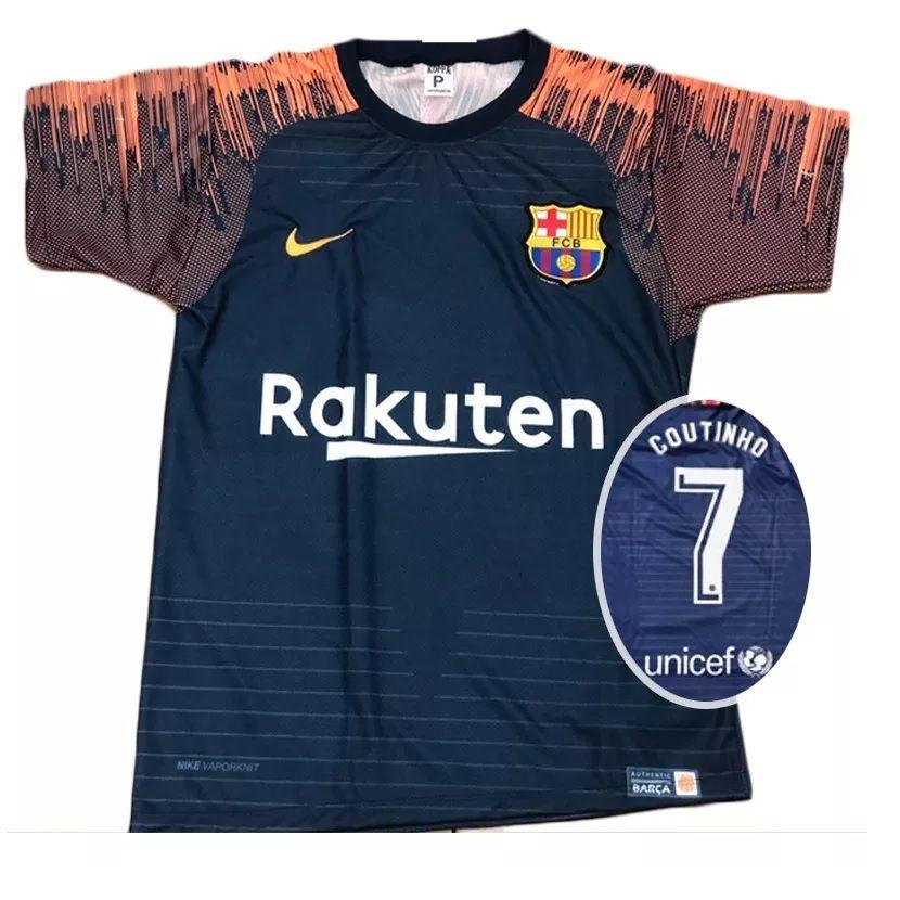 Camisa Barcelona Azul Marinho