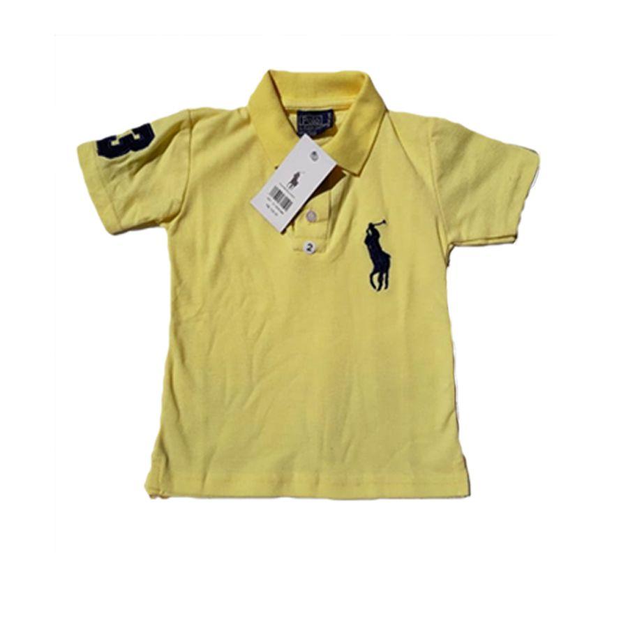 Camisa Polo Infantil - Amarelo