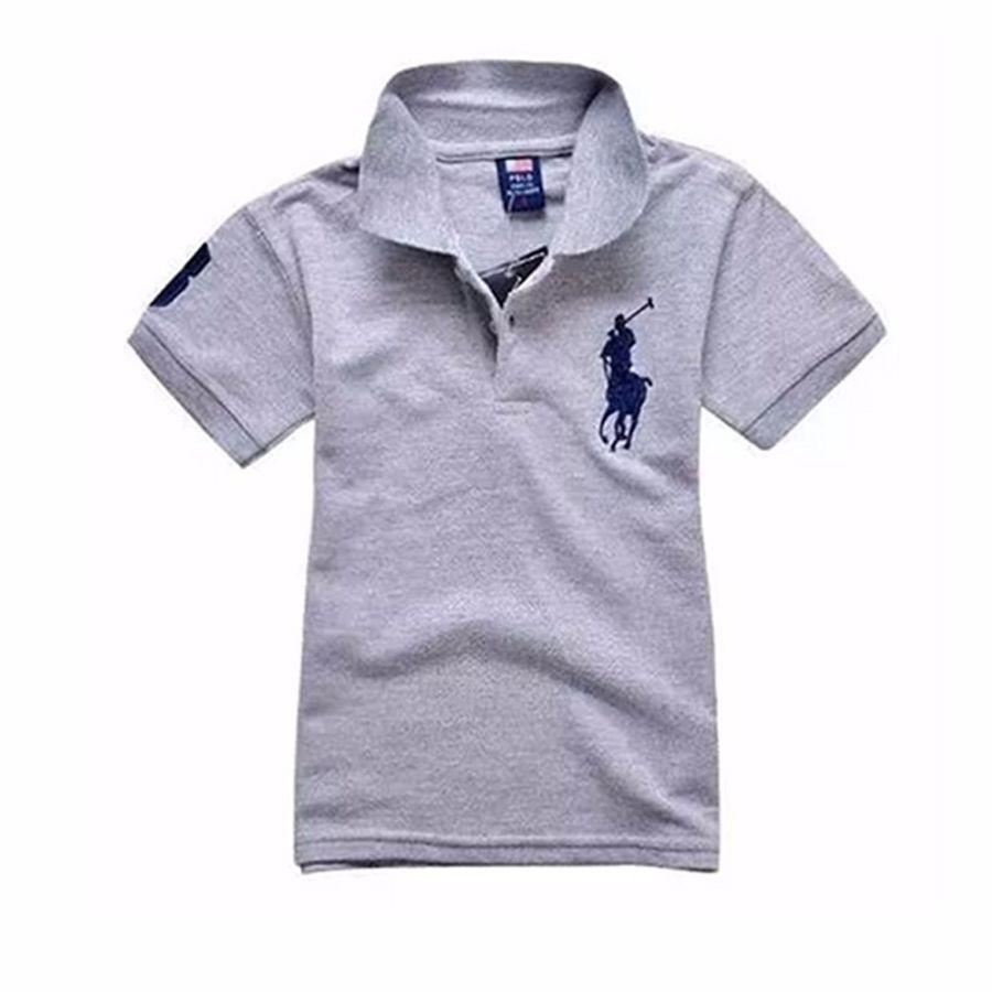 Camisa Polo Infantil - Cinza