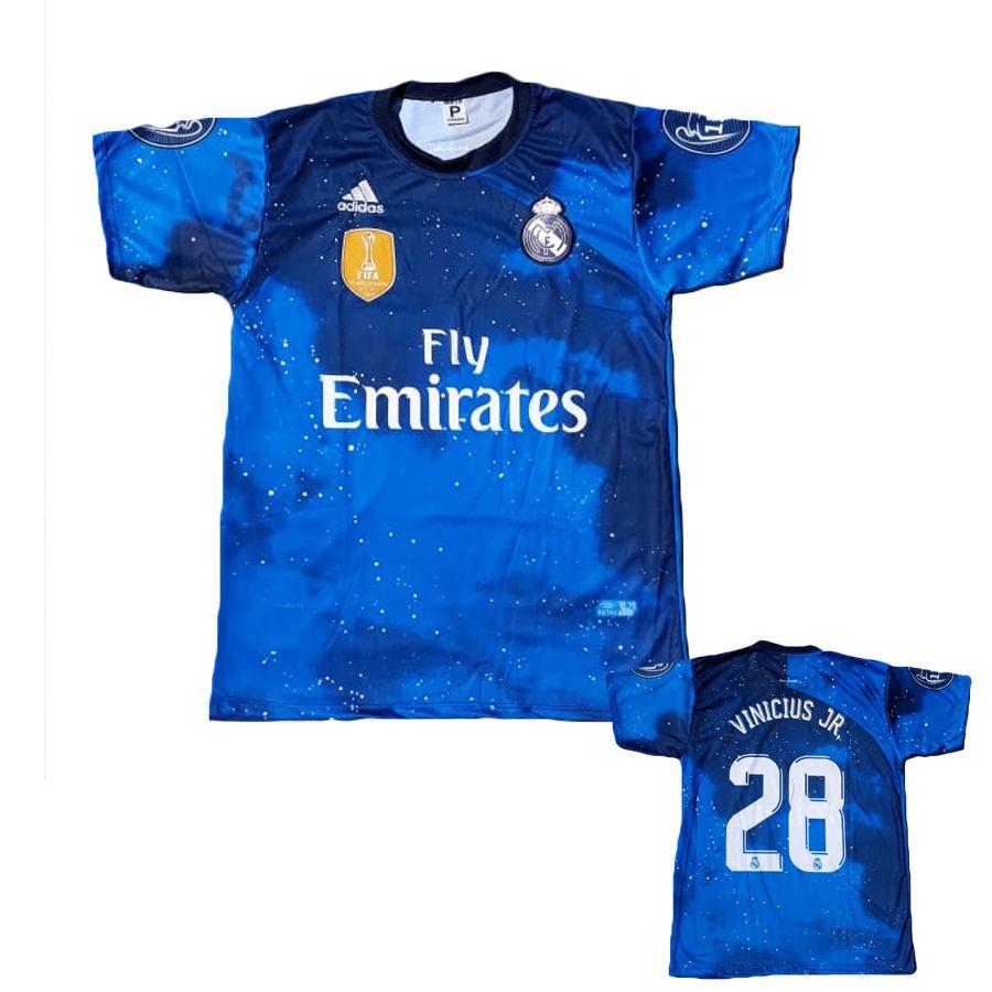 Camisa Real Madri Azul Vinicius Jr