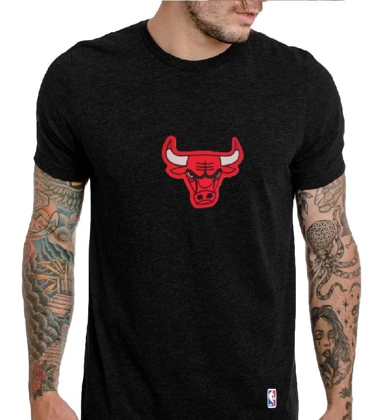 Camiseta Bulls Preto - manga Curta