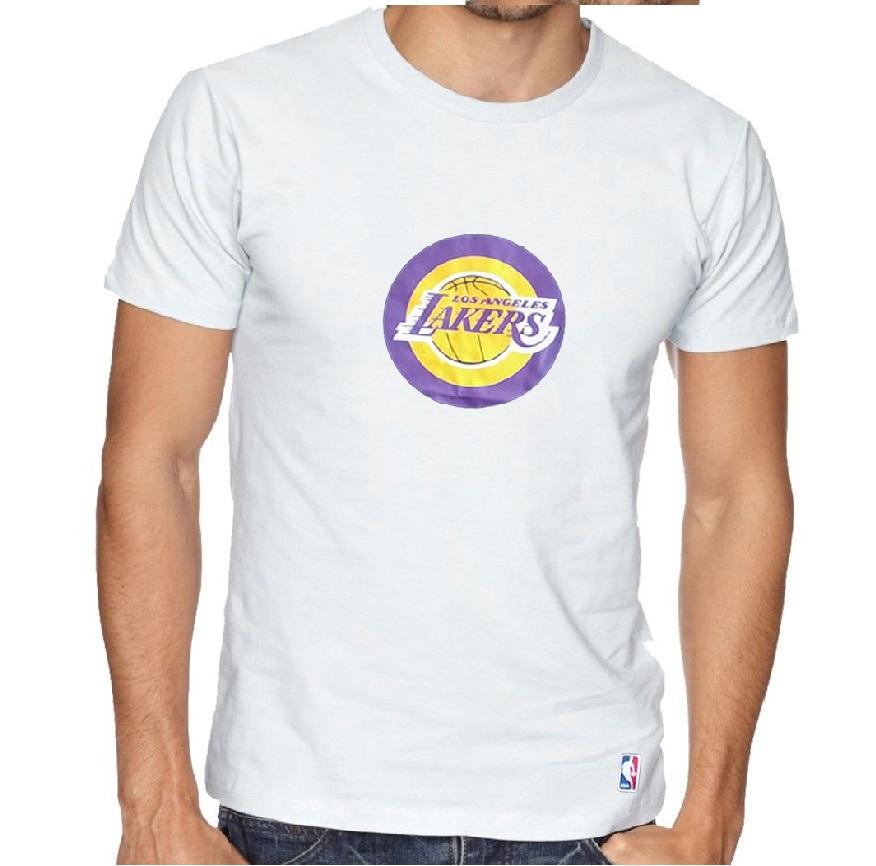 Camiseta Lakers Branco- Manga Curta