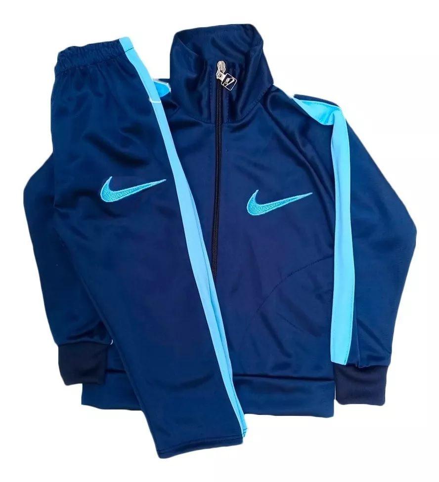 Conjunto Abrigo Calça e Blusa - Azul c/ Azul