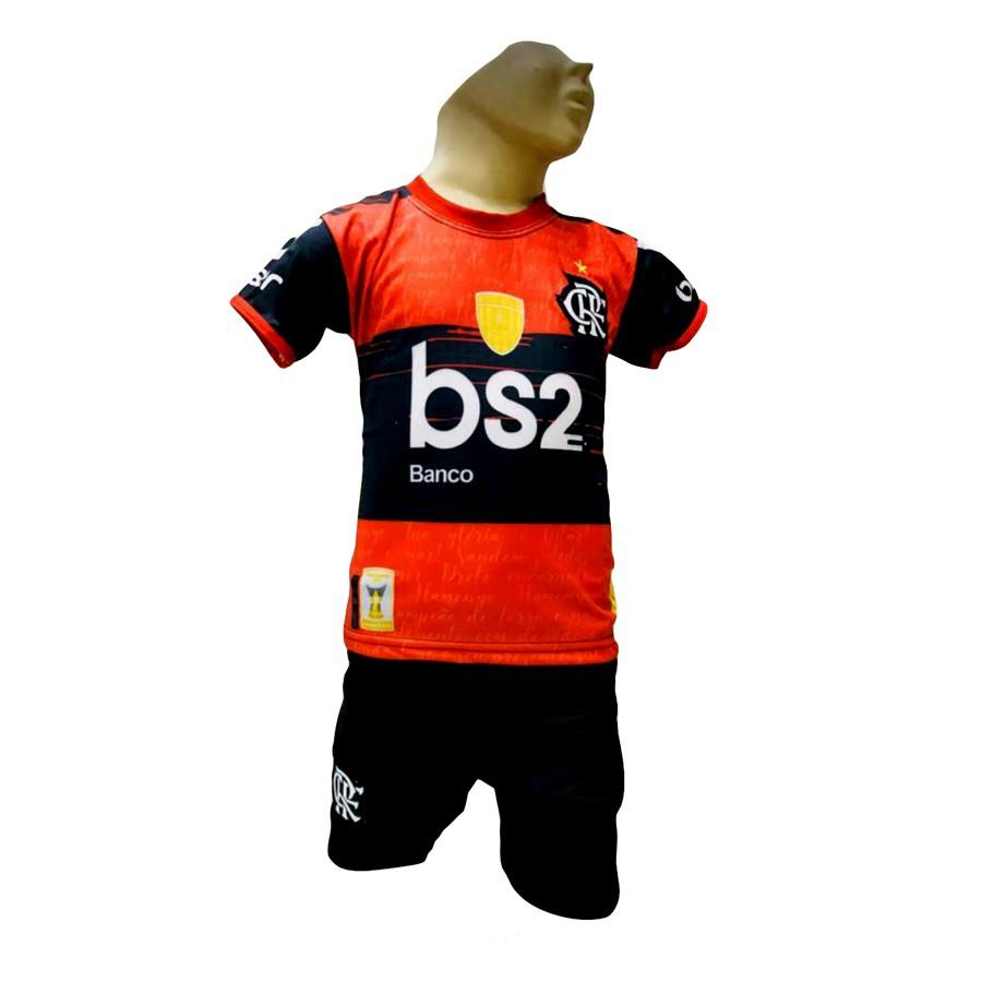 Conjunto Flamengo vermelho