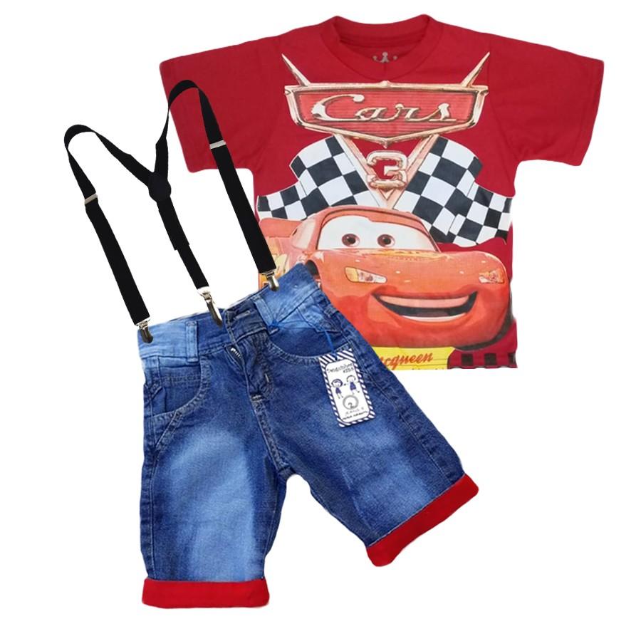 Conjunto Infantil Macqueen Carros