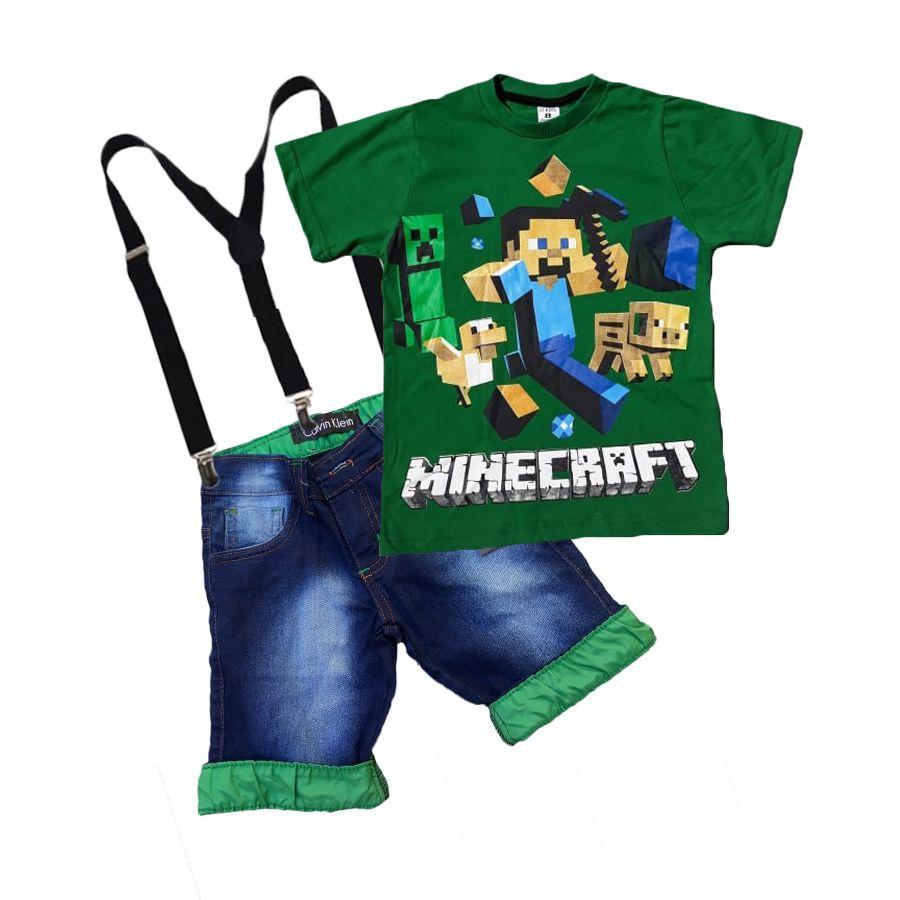 Conjunto Infantil Minecraft