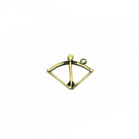 Arco e Flecha Oxóssi Dourado - PING31