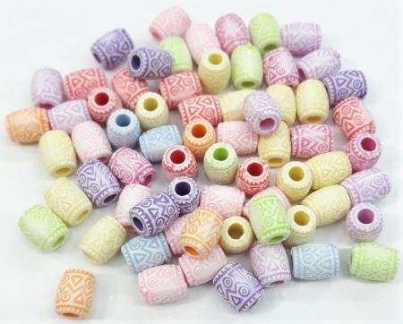 Contas Plastica Colorida - Formato Variado