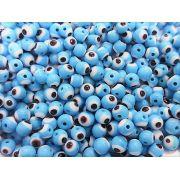 Olho Grego de murano Turquesa 6mm