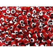 Olho Grego de Murano Vermelho 6mm Atacado