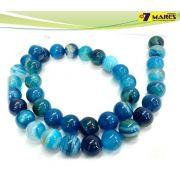 Pedra Agata Azul 10mm