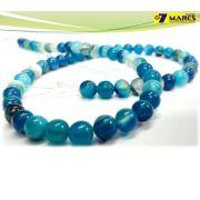 Pedra Agata Azul 6mm