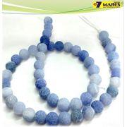 Pedra Agata Craquelada Azul 8mm
