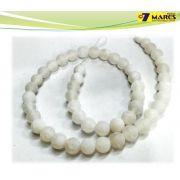 Pedra Agata Craquelada Branca 8mm
