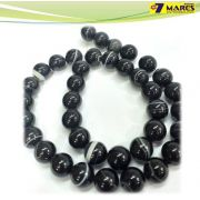 Pedra Agata Negra 10mm
