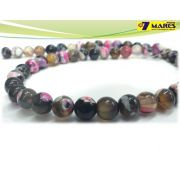 Pedra Agata Pink Mix 8mm