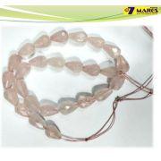 Pedra Gota quartzo Rosa Facetado