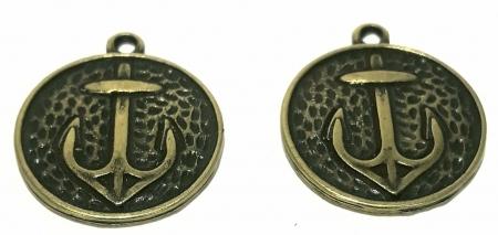 Pingente Medalha de Âncora - PINGM21