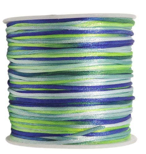 9º Fio de Cetim Multicolor 1mm ( Clique e selecione a cor de sua preferencia )