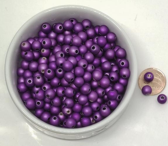 Bola Emborrachada Metalizada  - 8mm (ATACADO) - Selecione a Cor de Sua Preferencia
