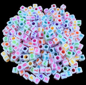 Conta Plastica Números - Branco Color - 20gr.