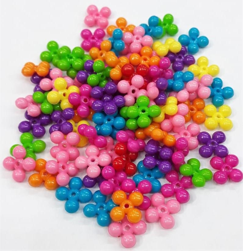 Contas Plastica Colorida - Entremeio Color