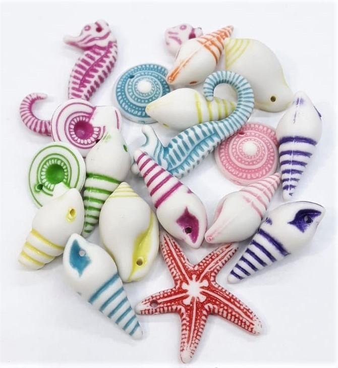 Contas Plastica Colorida -  Fundo do Mar