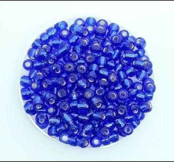Miçangas 6/0  Azul Transparente