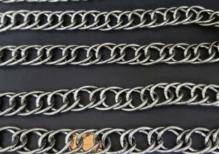 Corrente de Aluminio - Grafite Elo Duplo (  selecione sua metragem )