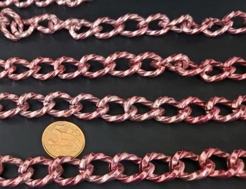 Correntes de Alumínio Coloridas  Pink ( selecione sua  metragem )