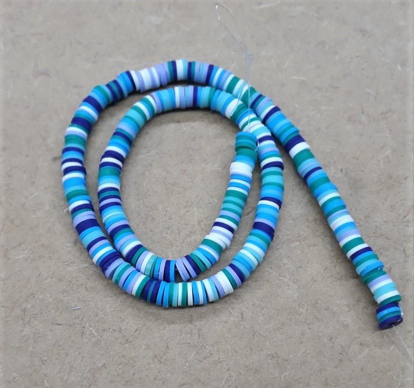 Disco de Borracha Azul Mesclado