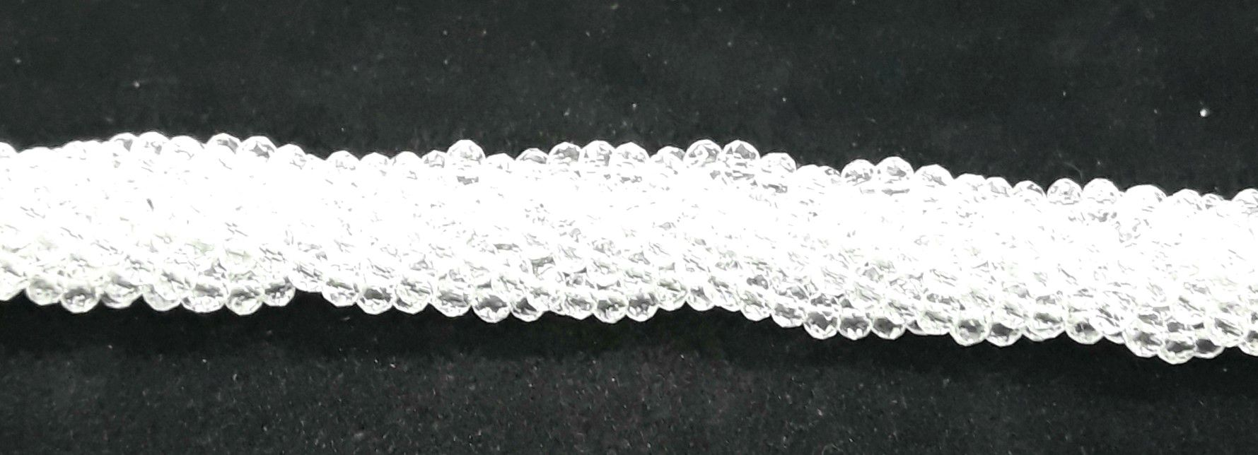 Fio de Cristal Achatado 4mm (Transparente) - FDC02