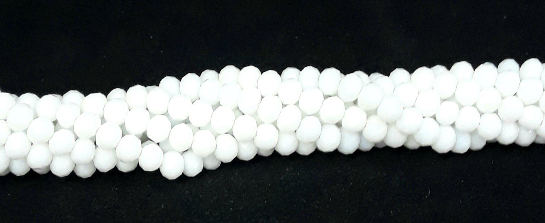 Fio de Cristal 6mm ( Branco Leitoso) - FDC118