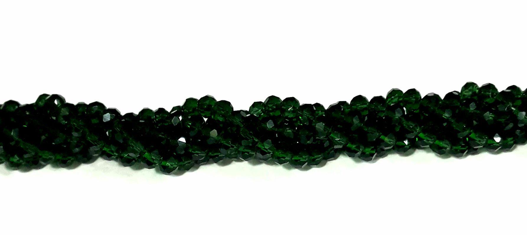 Fio de Cristal 6mm (Verde Escuro) - FDC25