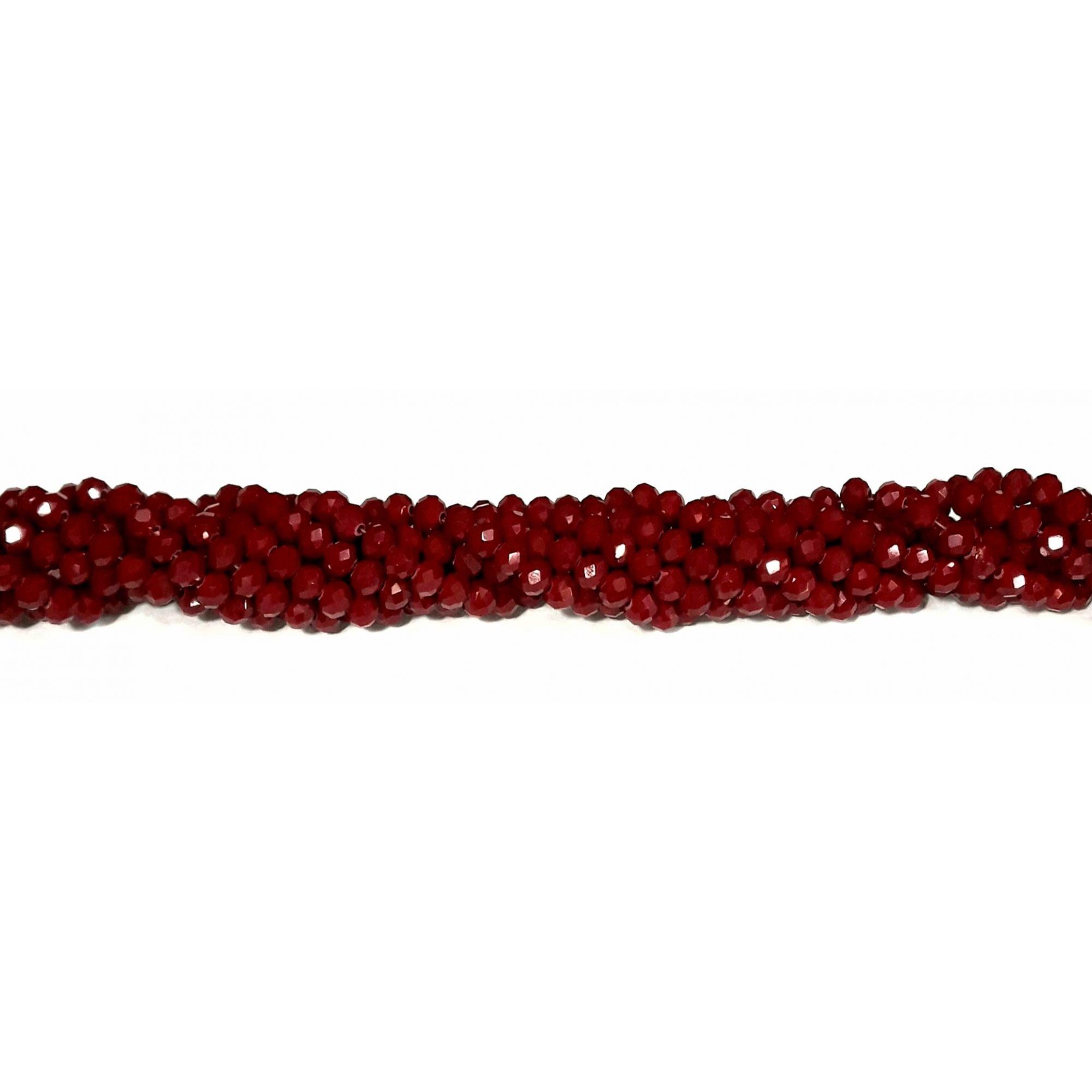Fio de Cristal 6mm (Vermelho) - FDC24