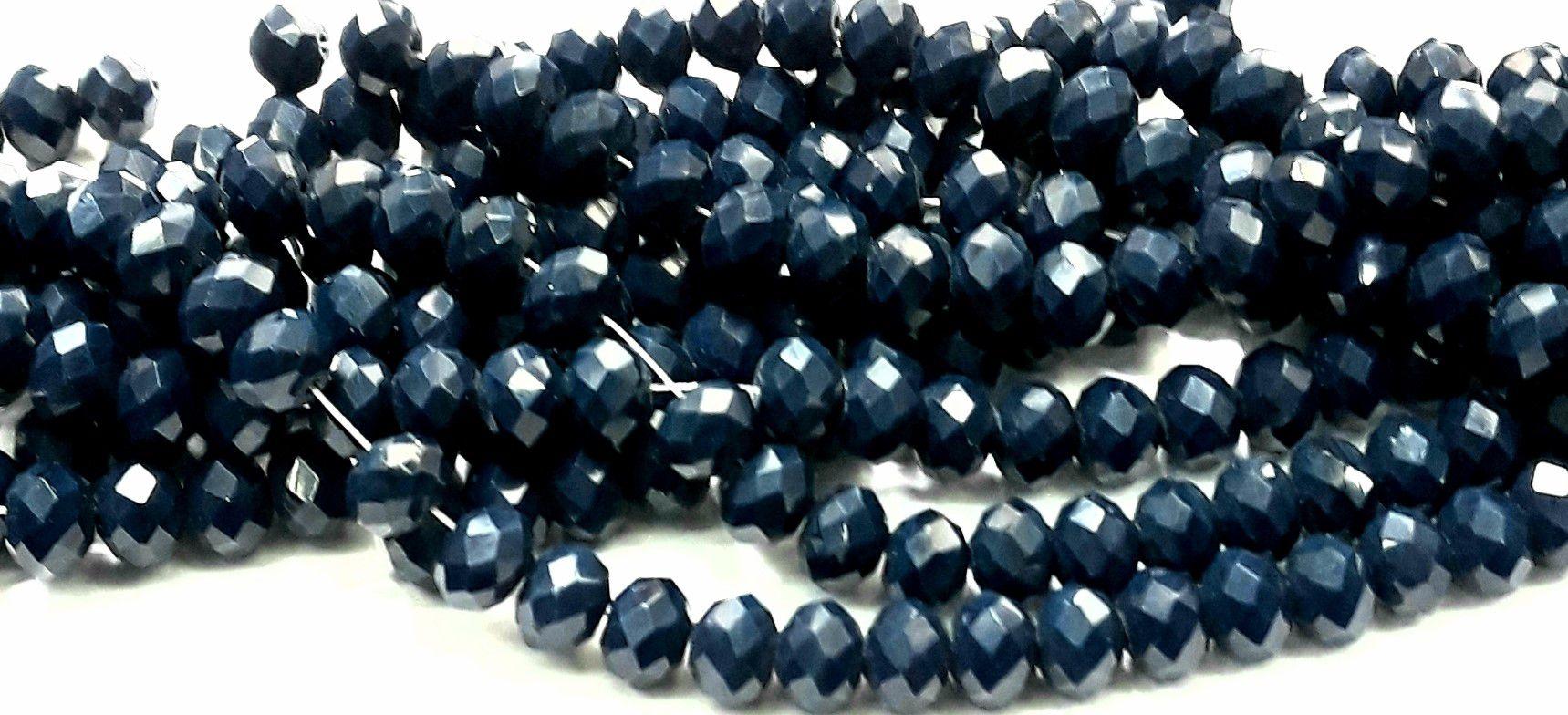 Fio de Cristal 8mm (Azul Escuro) - FDC05