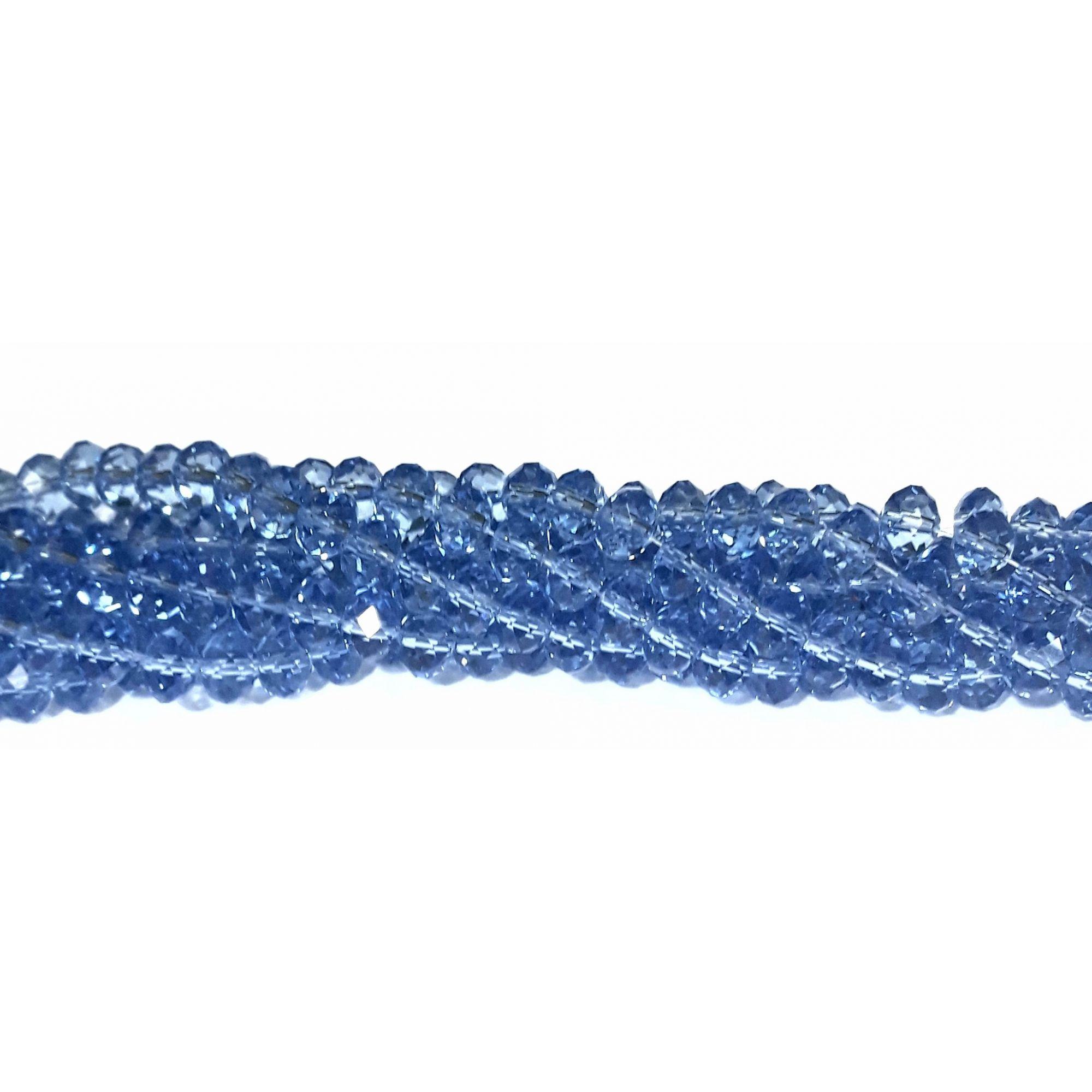 Fio de Cristal 8mm (Azul Transparente) - FDC29